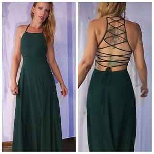 434444 tie back Gown Small